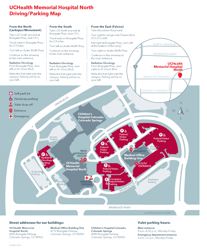 infographic with driving and parking map