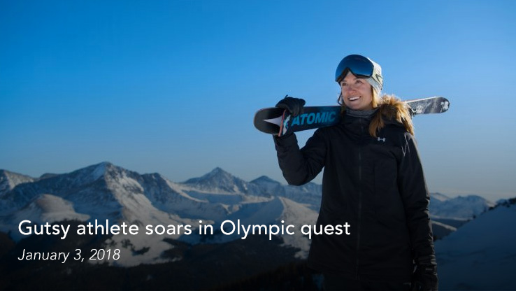 Gutsy athlete soars in Olympic quest