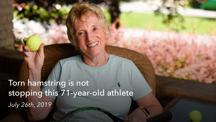 Torn hamstring is not stopping this 71 year old athlete