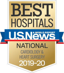 US News Best Hospitals Badge Cardiology Heart Surgery 2019-20
