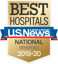US News Best Hospitals Badge Orthopedics 2019-20