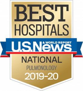 US News Best Hospitals Badge Pulmonology 2019-20