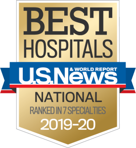 US News National Rankings badge 2019-20
